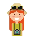 tourist man traveler icon vector image vector image