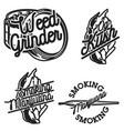 vintage marijuana emblems vector image