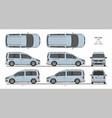 vw caddy life passenger van l1 l2 2015-present vector image vector image