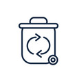waste bin recycle ecology environment icon linear vector image