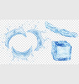water splashes and ice cube vector image vector image