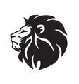 wild lion icon logo template vector image vector image
