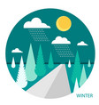 winter landscape in the style of flat vector image vector image