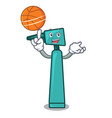 with basketball otoscope character cartoon style vector image