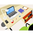 Workplace with laptop vector image