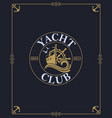 Yacht club label