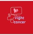 Breast Cancer Awareness Month Banner Logo for vector image