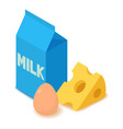 dairy product icon cartoon isometric 3d style vector image