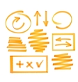 Collection of highlighter elements vector image