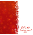 Red Christmas pattern with snowflakes vector image