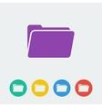 folder flat circle icon vector image