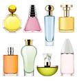 perfume icons set 2 vector image