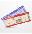 Airline boarding pass tickets travel vector image