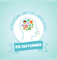 26 september european day of languages vector image vector image