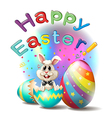 A happy easter poster vector | Price: 1 Credit (USD $1)