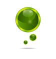 abstract eco green bubbles vector image vector image