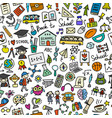 back to school seamless pattern for your design vector image vector image