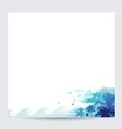 blue palm tree design tropical summer background vector image vector image
