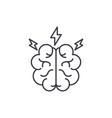 brainstorm line icon concept brainstorm vector image vector image