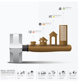 Business And Real Estate Construction Infographic vector image vector image