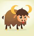 cartoon american bull vector image