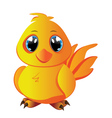 Cartoon Yellow Chicken vector image
