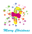 celebratory sugar candy for christmas with a bow vector image