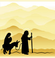 christmas nativity mary and joseph 4 vector image vector image