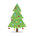 christmas tree with toy and decor typographic vector image vector image