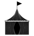circus tent with stripes vector image