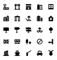 City Elements Icons 8 vector image vector image