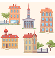 Classic Buildings Set vector image