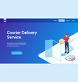 courier delivery 3d template vector image vector image