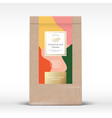 craft paper bag with citrus chocolate label vector image vector image