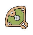 diamond camp baseball icon vector image vector image