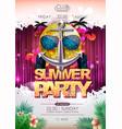 disco background disco ball summer beach party vector image vector image