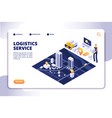 distribution and logistics isometric concept vector image vector image