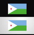djibouti flag banner design vector image vector image