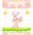 Doodle Easter Bunny vector image vector image