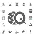 drum icon ramadan kareem eid mubarak vector image vector image