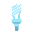 ecological light bulb icon halogen lamp symbol vector image