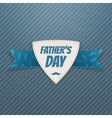 Fathers Day textile Label with greeting Ribbon vector image vector image