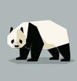 flat geometric giant panda vector image vector image