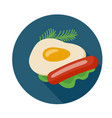 flat style omelette icon vector image vector image