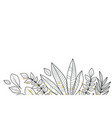 floral decoration with leaves vector image vector image