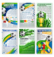 football or soccer game banner sport club design vector image vector image
