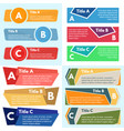 four sets of three elements of infographic design vector image vector image