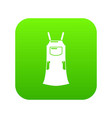 girl dress icon green vector image