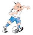 goat mascot playing with ball vector image vector image