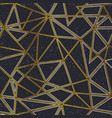 gold color triangle seamless pattern with grunge vector image